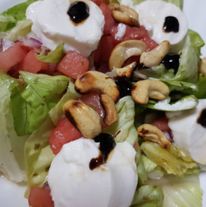 salat-mit-melone-ziegenkaese